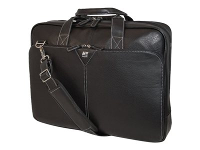 Mobile Edge Deluxe Leather Briefcase Notebook carrying case 16INCH black