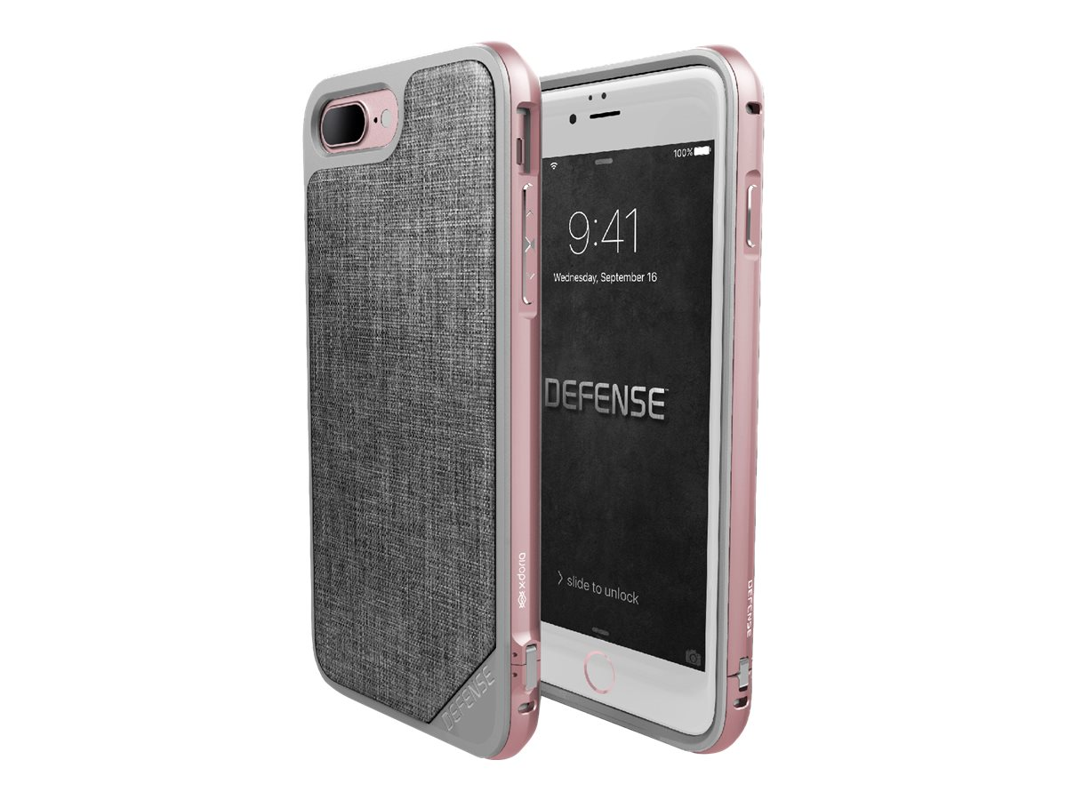x doria defense lux coque de protection pour iphone 7 plus gris or rose coques iphone. Black Bedroom Furniture Sets. Home Design Ideas