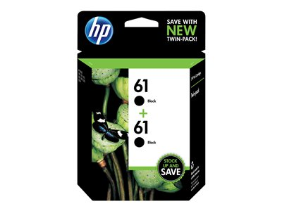HP 61 2-pack 3 ml black original ink cartridge