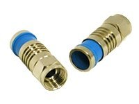 C2G Compression F-Type Connector with O-RING for RG6 QUAD - antenna connector