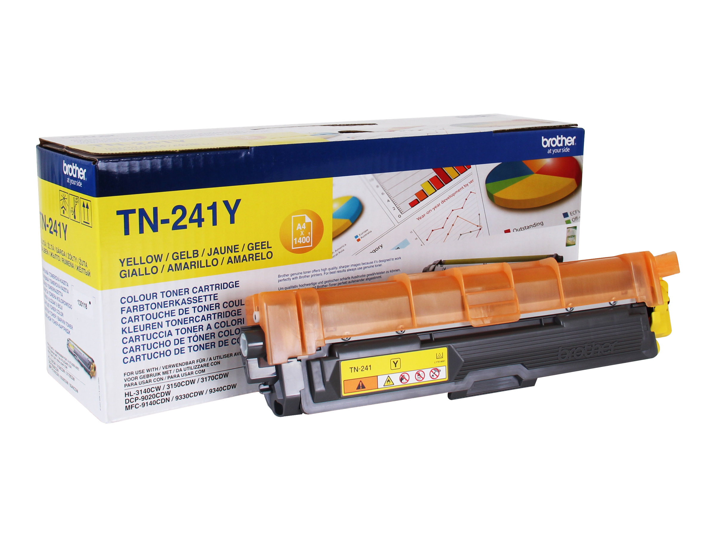Brother TN241 - jaune - toner d'origine - cartouche laser