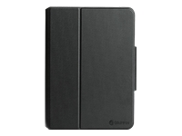 Griffin SnapBook - Flip cover for tablet - polycarbonate, thermoplastic polyurethane - black - for Apple 9.7-inch iPad Pro; iPad Air; iPad Air 2