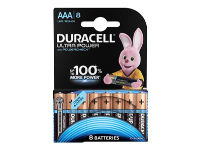 Piles & Chargeurs Duracell Ultra Power LR03 - 8 piles - AAA
