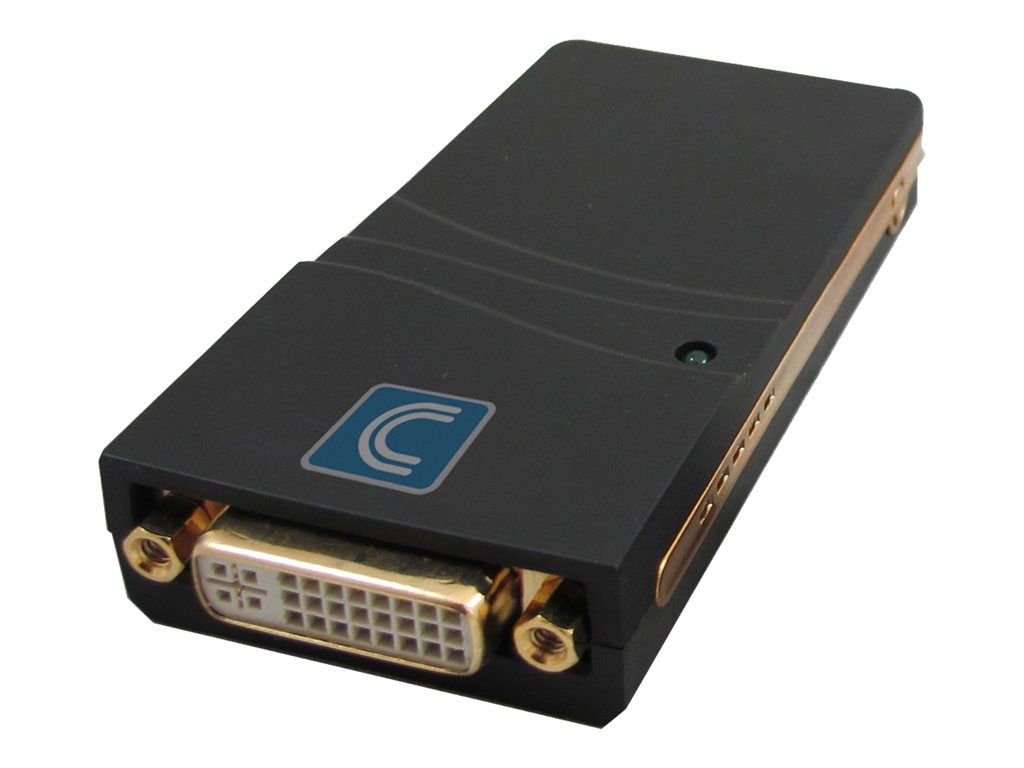Comprehensive USB 2.0 to DVI/VGA/HDMI Converter - external video adapter