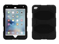 Griffin Survivor All-Terrain - Protective case for tablet - rugged - silicone, polycarbonate - black - for Apple iPad mini 4