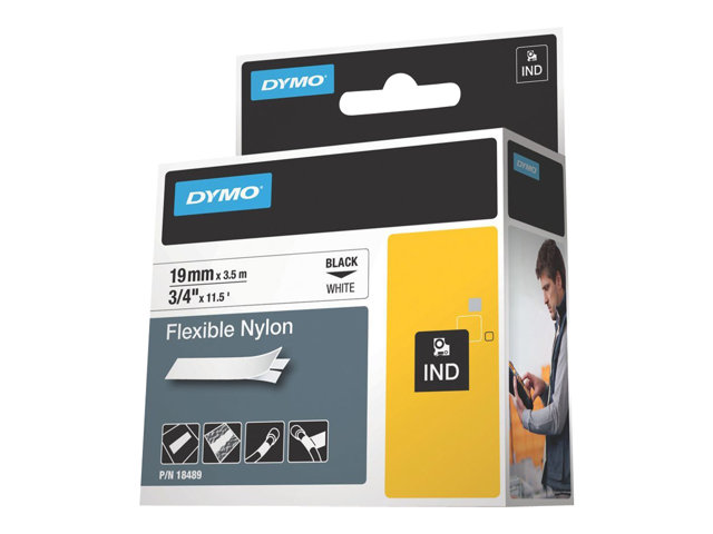 Image of DYMO IND - flexible label tape - 1 roll(s) - Roll (1.9 cm x 4 m)