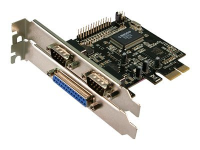 LogiLink - Adapter Parallel/Seriell - PCIe - parallel, Seriell - 3 Anschlüsse