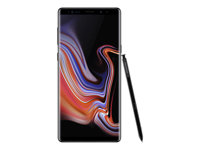 "Samsung Galaxy Note9 - SM-N960F - smartphone - 4G LTE - 128 GB - microSDXC slot - TD-SCDMA / UMTS / GSM - 6.4"" - 2960 x 1440 pixels (516 ppi) - Super AMOLED - RAM 6 GB - 12 MP (8 MP front camera) - Android - midnight black"