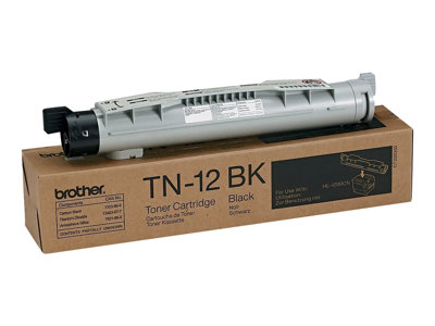 Brother TN-12BK Black original toner cartridge for Brother HL-4200CN