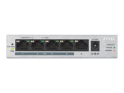 Zyxel GS1005HP Switch 5-porte Gigabit  PoE