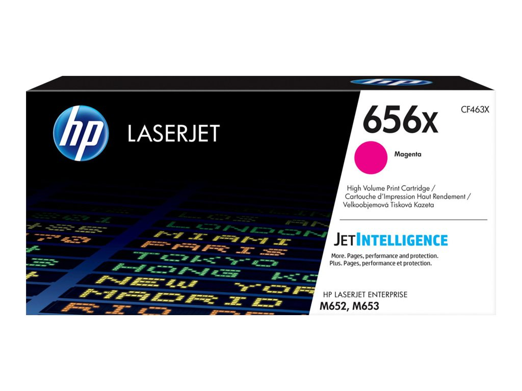 HP 656X - High Yield - magenta - original - LaserJet - toner cartridge (CF463X)