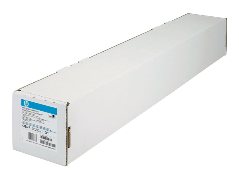 "HP Bright White Inkjet Paper - Mat - blanc brillant - Rouleau (91,4 cm x 91,4 m) - 90 g/m² - 1 rouleau(x) papier - pour T2300 PostScript eMFP, T3500 Production eMFP, T610 (44""), T7200 Production Printer"