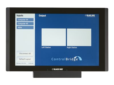 Black Box ControlBridge Touch Panel Desktop, 12INCH Video conferencing device 12.1INCH