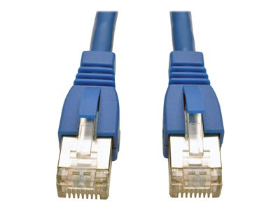 Cat6A RJ45 Ethernet LAN Network STP Shielded Cable Copper Wire 550MHz Blue 14FT