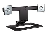 HP Adjustable Dual Display Stand Stand (stand base) for 2 LCD displays screen size: up to 24INCH