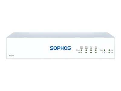 Sophos SG 105 Rev 3 security appliance with 3 years TotalProtect 24x7 GigE deskto