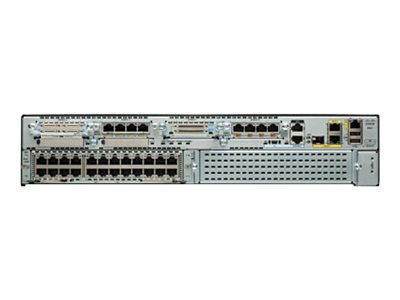 Cisco 2921 Voice Security Bundle - Router - Sprach- / Faxmodul - GigE - WAN-Ports: 3 - an Rack montierbar