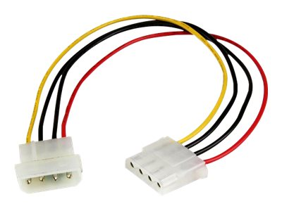 StarTech.com 12in Molex LP4 Power Extension Cable M/F - 4 pin Molex Power Connector - 4 pin Power Extension Cable - LP4…