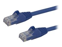 StarTech.com Cat6 Ethernet Cable 7 ft Blue Patch Cable Snagless Cat6 Cable