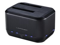 LC Power LC-DOCK-U3-III - HDD-Dockingstation mit Ein/Aus-Schalter, Klon-Funktion
