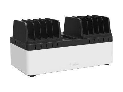 Belkin Store and Charge Go with fixed dividers - Ladestation - Ausgangsbuchsen: 10