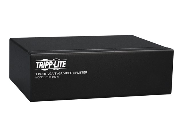 Tripp Lite 2-Port VGA / SVGA Video Splitter Signal Booster High Resolution Video