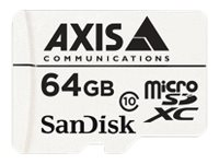 AXIS Surveillance Flash memory card (microSDXC to SD adapter included) 64 GB Class 10