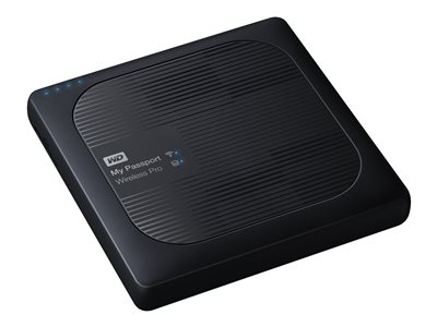 WD My Passport Wireless Pro WDBVPL0010BBK Network drive 1 TB HDD 1 TB x 1 RAM 512 MB