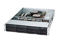 Rack-mountable - 2U - extended ATX - SATA/SAS - hot-swap 740 Watt - black