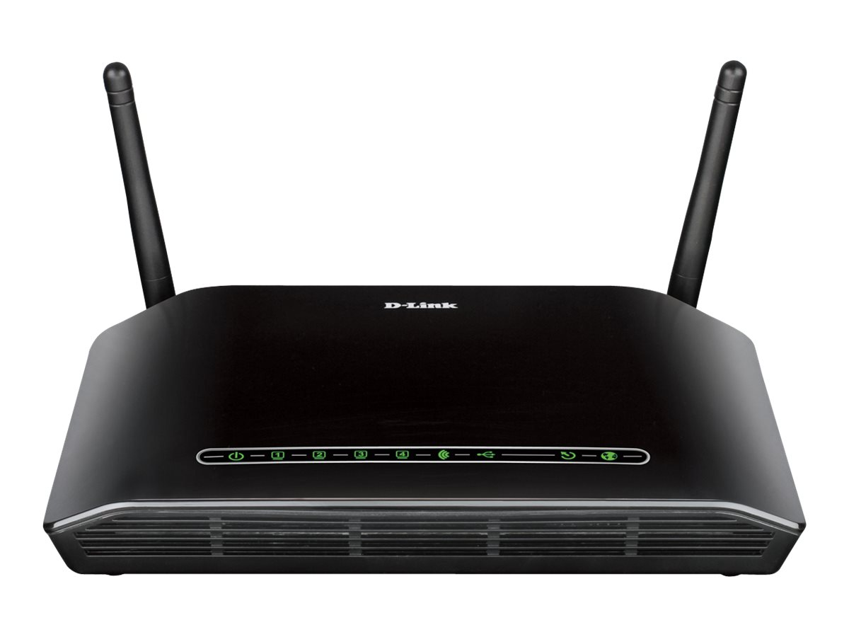 D-Link RangeBooster N DSL-2750B - wireless router - DSL modem - 802.11b/g/n - desktop