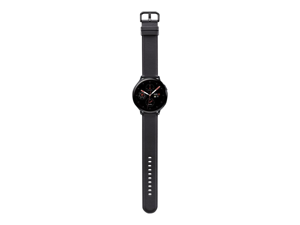 Samsung Galaxy Watch Active 2 - black stainless steel - smart watch with band - 4 GB - not specified