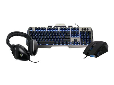 IOGEAR Kaliber Gaming Virtual Surround Gamer Pack Keyboard, mouse and headset set backlit
