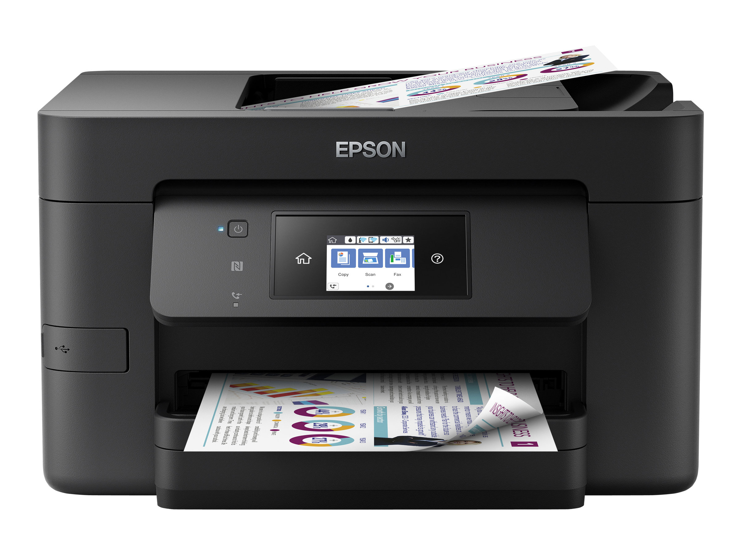 Imprimante EPSON WorkForce Pro WF 4720 DWF vue avant