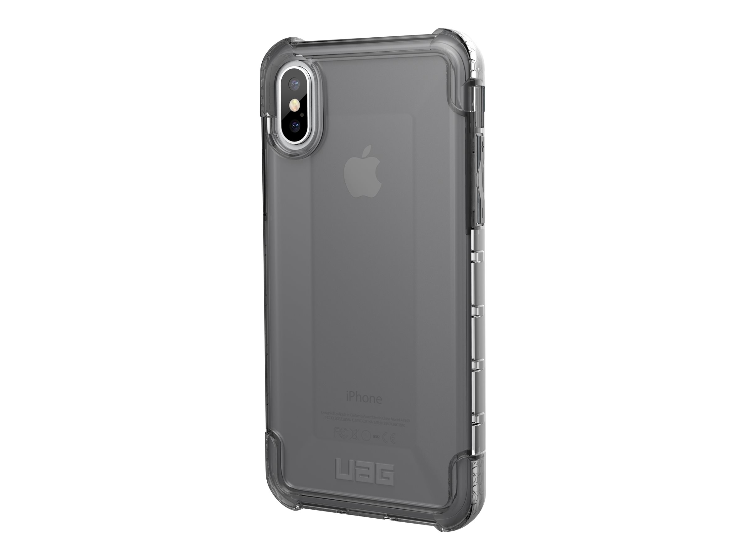 UAG Rugged Case for iPhone Xs / X [5.8-inch screen] - Ash Plyo - back cover for cell phone