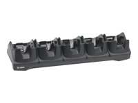 Zebra 5Slot Charge Only Cradle - Handheld charging stand - output connectors: 5 - for Zebra TC8000, TC8000 Premium, TC8000 Standard, TC8300