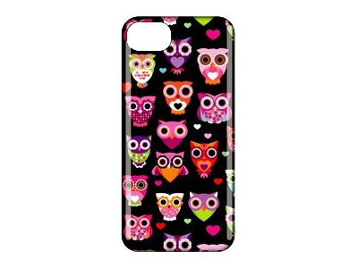 Griffin Wise Eyes Case for cell phone polycarbonate black/pink for Apple