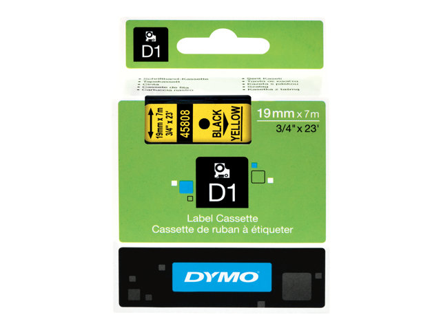 Image of DYMO D1 - label tape - 1 roll(s) - Roll (1.9cm x 7m)