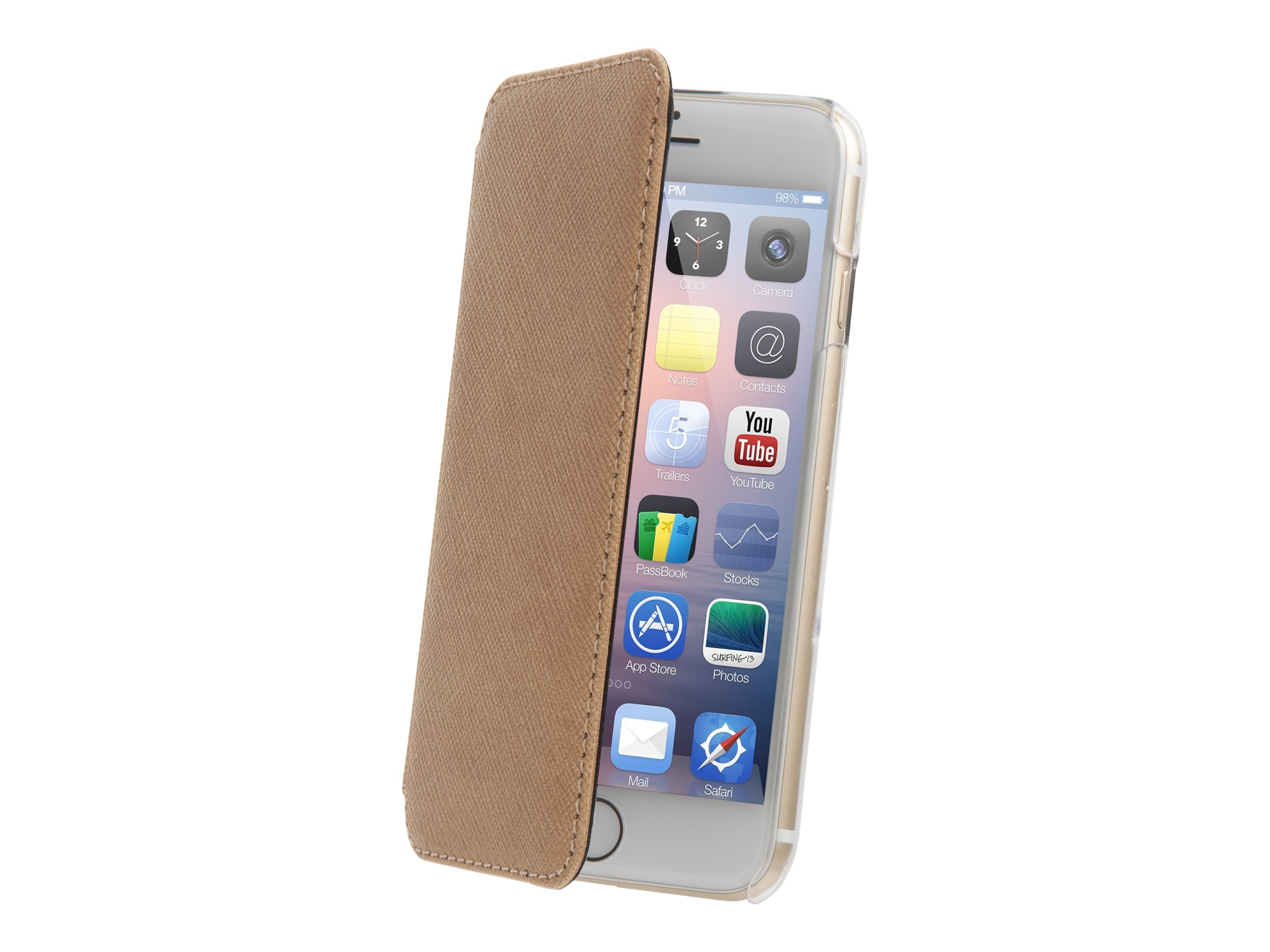 Muvit Made in Paris Crystal Folio - Protection à rabat pour iPhone 6 - champagne