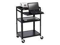 Bretford Basics Adjustable Projector Cart A2642NSE Cart for projector / notebook steel