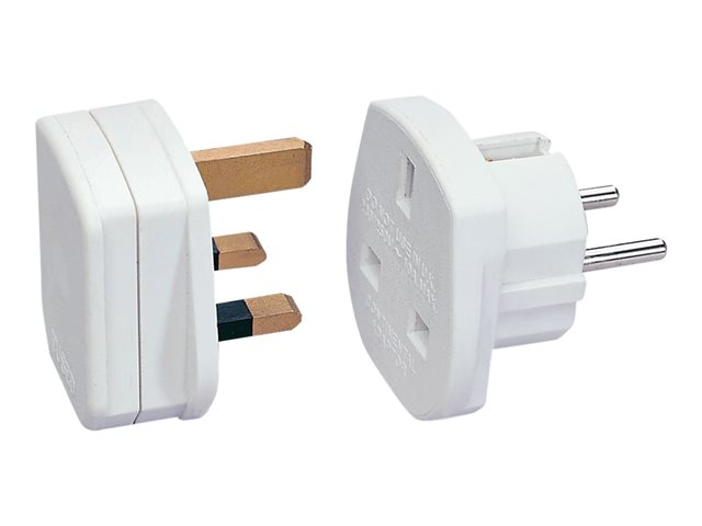Image of Lindy - power connector adaptor - CEE 7/7 to BS 1363