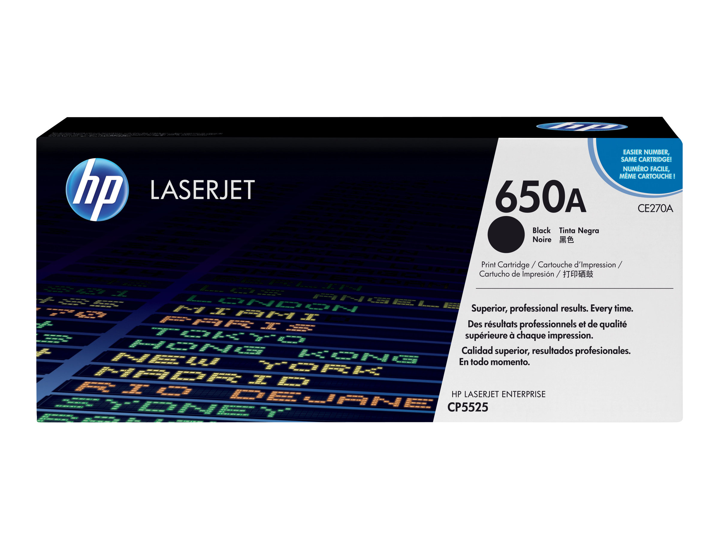 HP 650A - black - original - LaserJet - toner cartridge (CE270A)