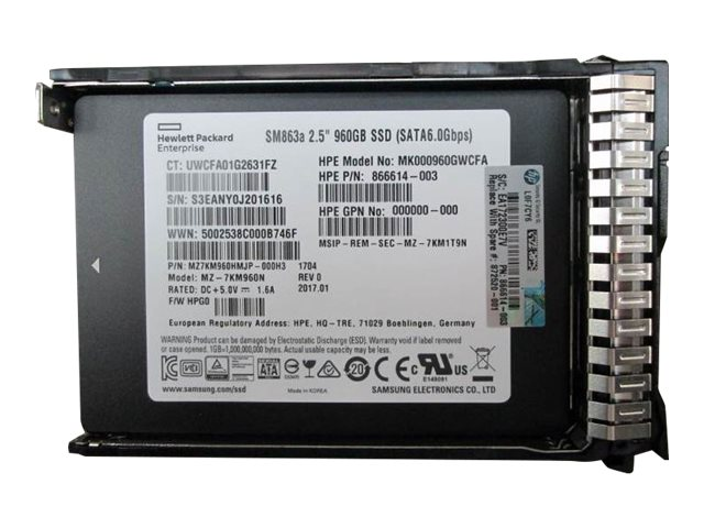 HPE Mixed Use-3 - solid state drive - 960 GB - SATA 6Gb/s