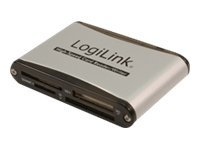 LogiLink Cardreader USB 2.0 External Alu - Kartenleser - All-in-one (MS, MMC, SD, xD, CF, microSD, SDHC) - USB 2.0