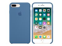 Apple - Back cover for mobile phone - silicone - denim blue - for iPhone 7 Plus, 8 Plus