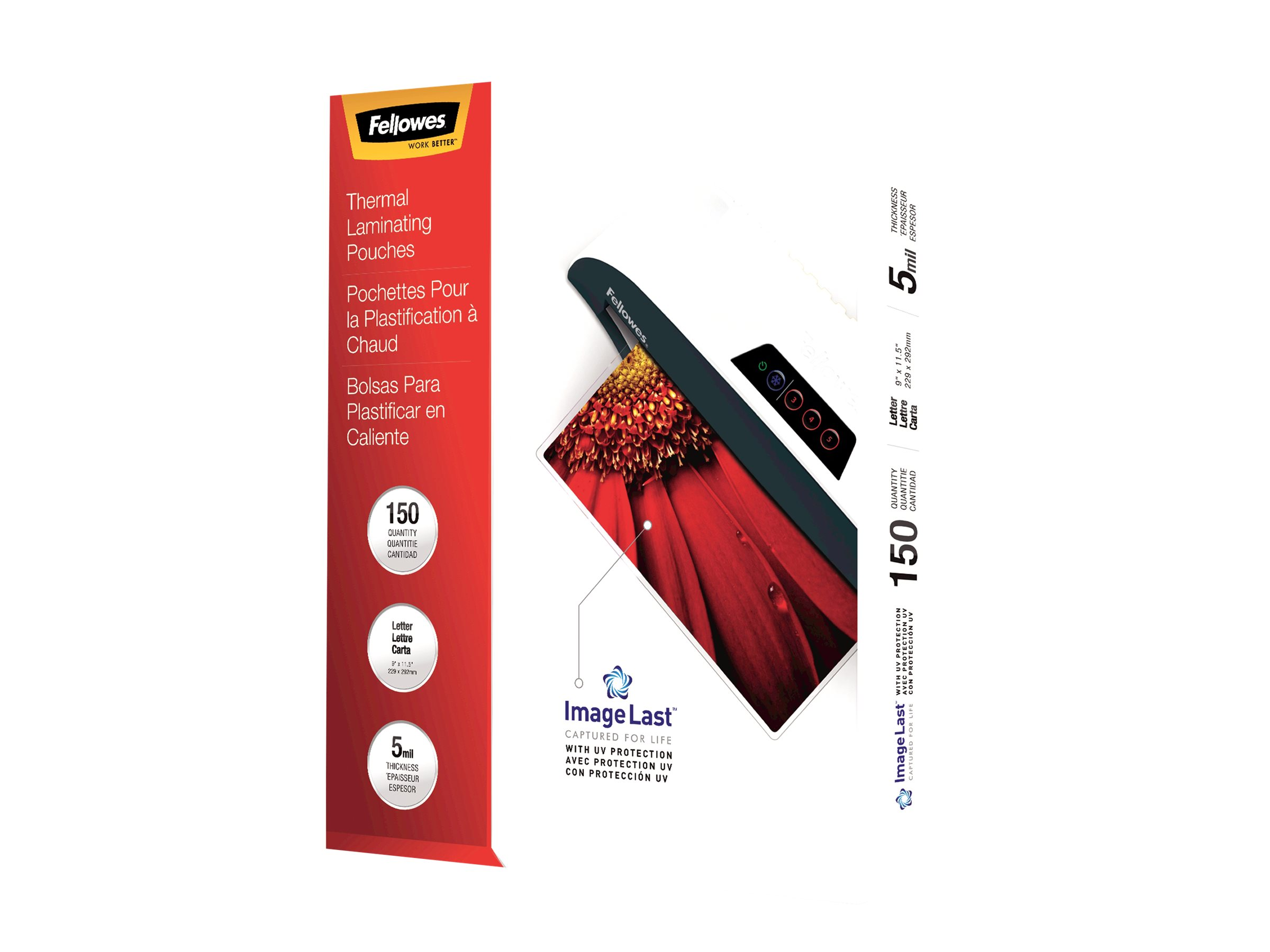 Fellowes - 150-pack - glossy - Letter - lamination pouches