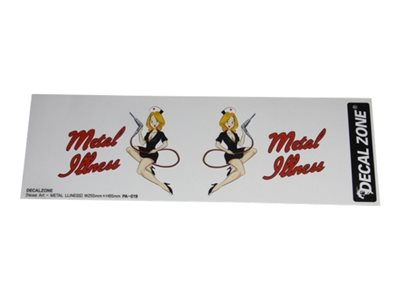 "Decal Zone - Set di adesivi Nose Art ""Metal Illness"""