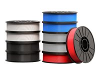 MakerBot Large 10-Pack 10-pack black, white, blue, red ABS filament (3D)
