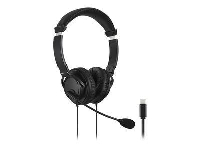 Kensington USB-C Hi-Fi Headphones with Mic - headset
