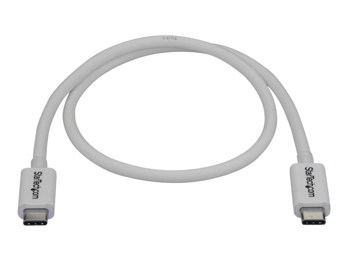 StarTech.com 40Gbps Thunderbolt 3 Cable - 1.6ft/0.5m - White - 5k 60Hz/4k 60Hz - Certified TB3 USB-C Charger Cord w/ 10…