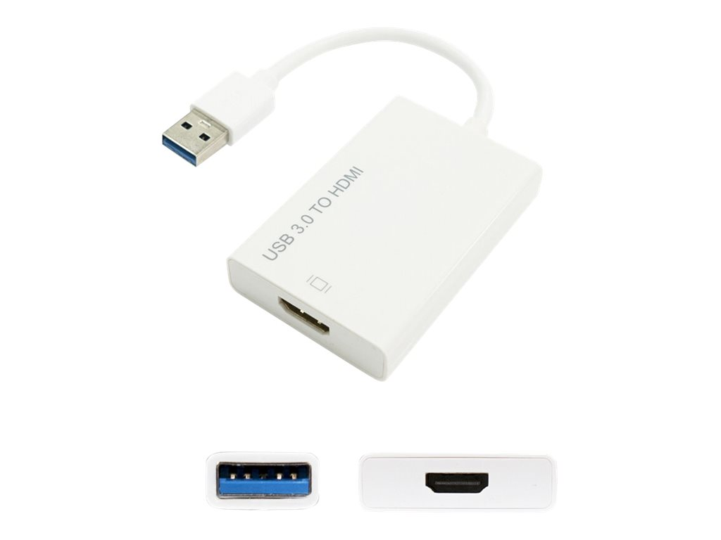 AddOn 1.0ft USB 3.0 (A) to HDMI Adapter - external video adapter - white